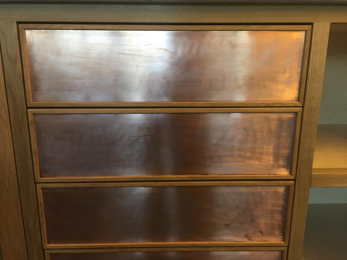 Copper Drawer Fronts