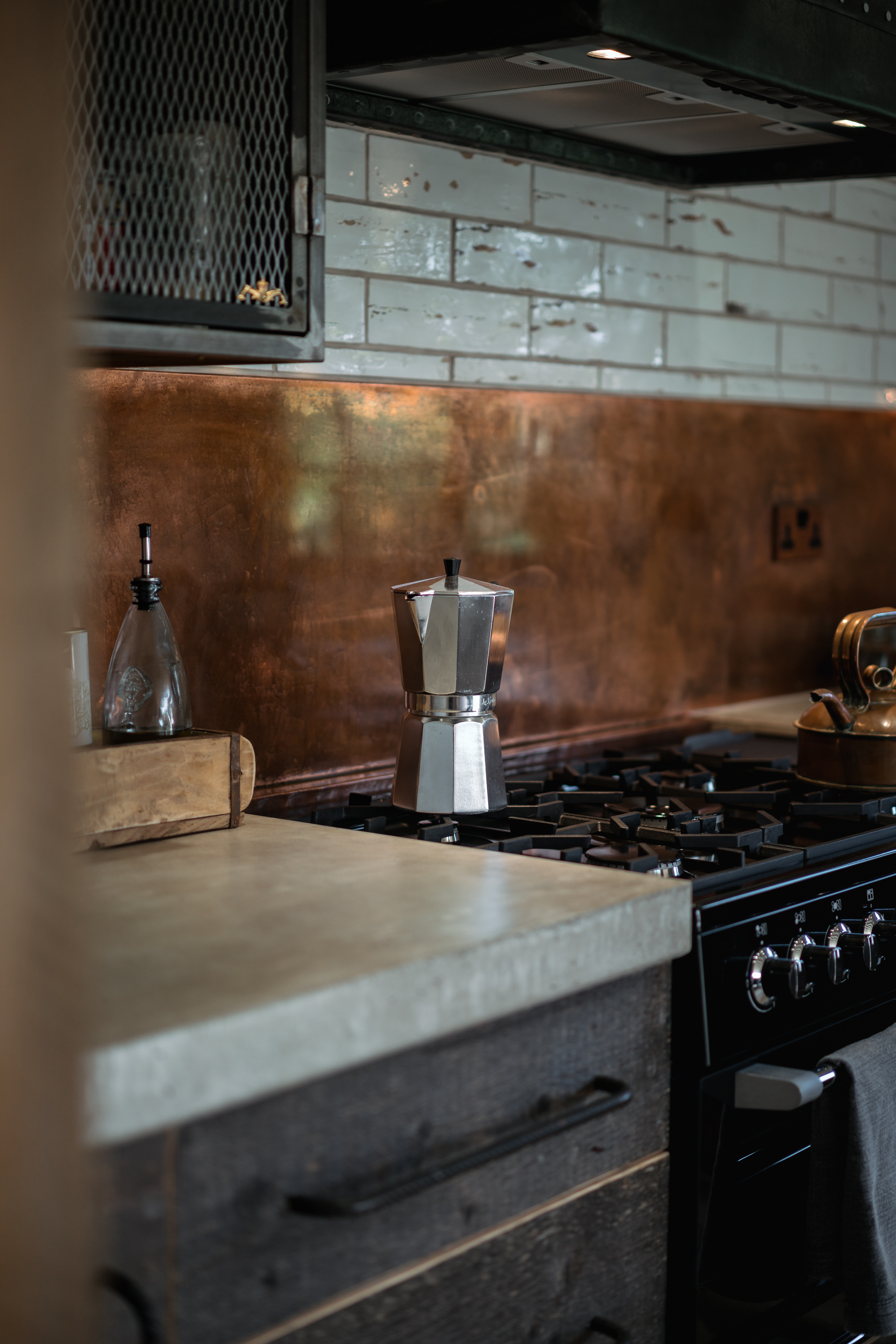 Coffee and Copper Splashback